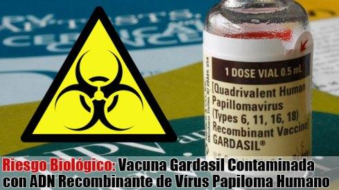 vacuna Gardasil contaminada, nociva