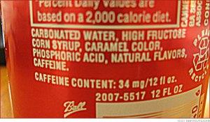 Bebidas como Coca Cola, Pepsi y productos como Galletas y dulces contienen Jarábe de Maíz alto en Fructosa.